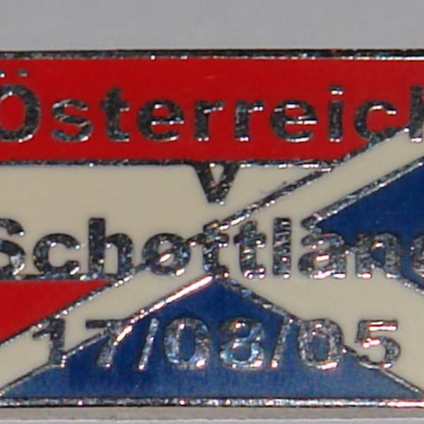 austria v scotland 2005 badge old style