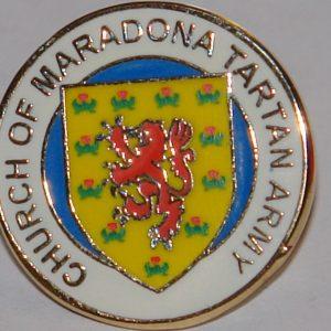 church of maradona ta badge