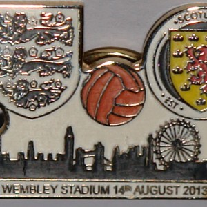 england v scotland wembley 2013 game badge