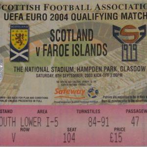 scotland v faores 2003