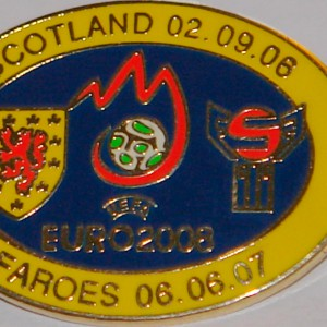 scotland v faroes 2008 euro oval badge
