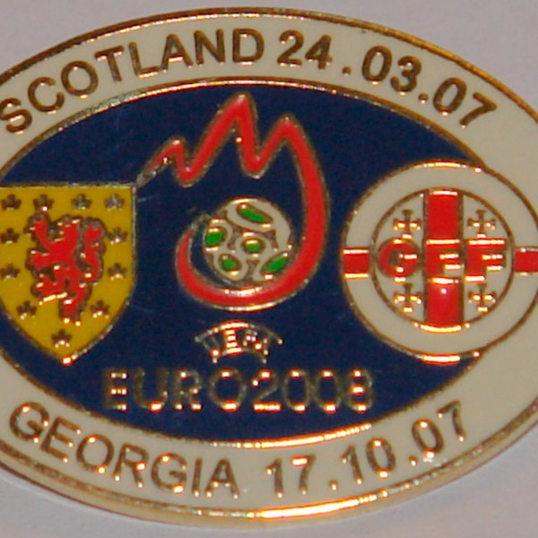 scotland v georgia oval 2008 badge