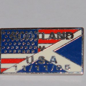 scotland v usa game badge old style