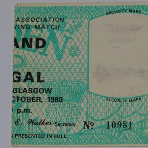 scotland v portugal 1980