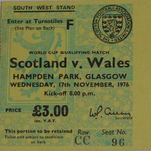 scotland v wales 1976