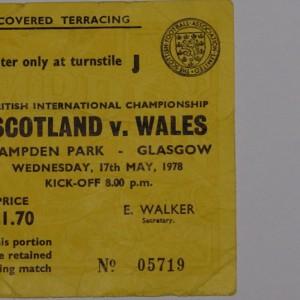 scotland v wales 1978 yellow