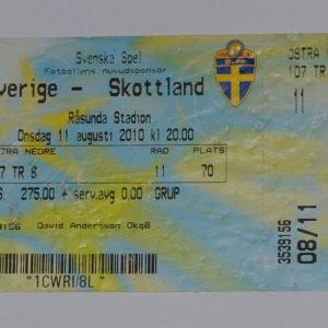 sweden v scotland 2010