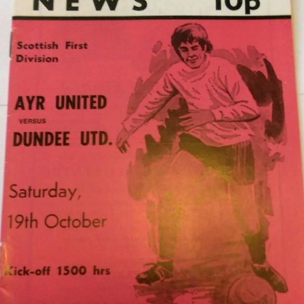 ayr united v dundee united 1974 75