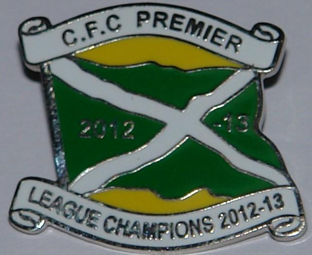 Celtic premier league 212-13 badge no 111