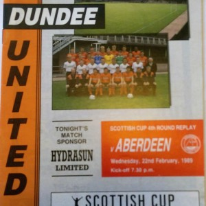 dundee united v aberdeen 1989