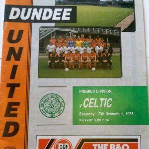 dundee united v celtic 1988