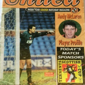 dundee united v motherwell scottish cup 1997