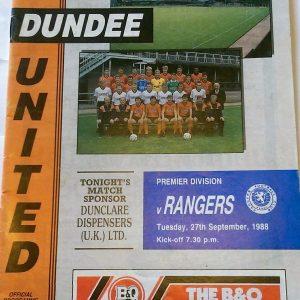 dundee united v rangers 1988