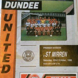 dundee united v st mirren 1988