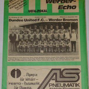 werder bremen v dundee united1982