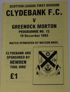clydebank v morton 1982
