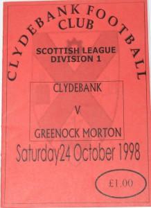 clydebank v morton 1998