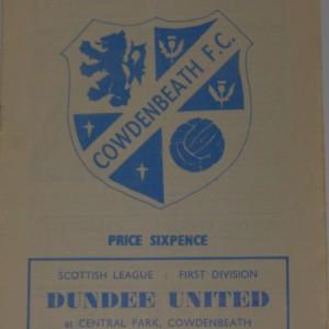 cowdenbeath v dundee united 1970