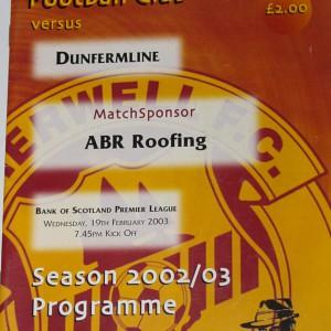 motherwell v dunfermline 2003