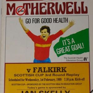 motherwell v falkirk 1989