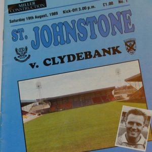 st johnstone v clydebank 1989