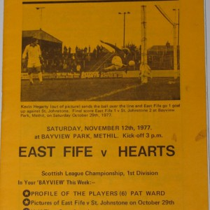 east fife v hearts 1977