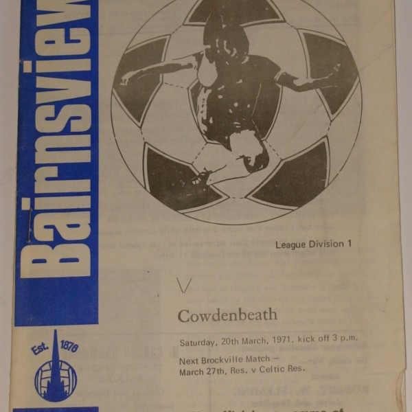 falkirk f cowdenbeath 1971