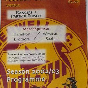 motherwell v partick thistle 2003