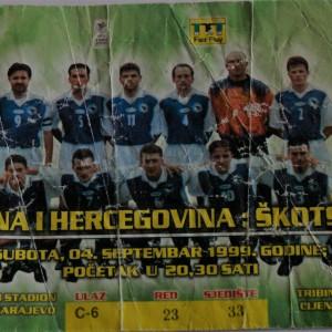 bosnia v scotland 1999
