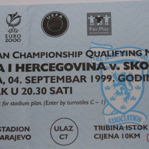 bosnia v scotland 1999 blue