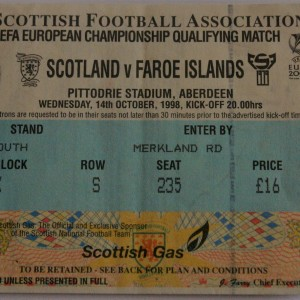 scotland v faroe islands 1998