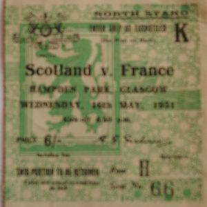 scotland v france 1951