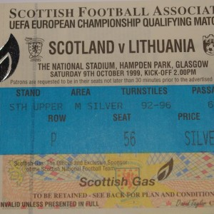 scotland v lithuania 1999