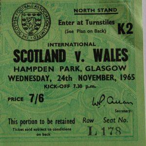 scotland v wales 1965