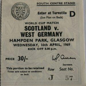 scotland v west germany 1969