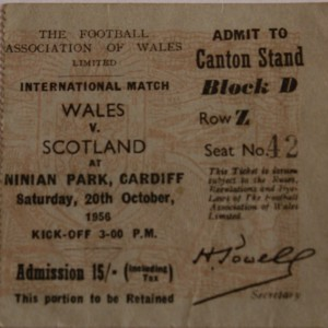 wales v scotland 1956