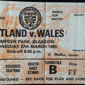 scotland v wales 1985
