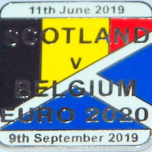 scotland v belgium badge
