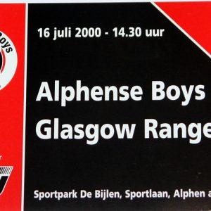alphens boys v rangers