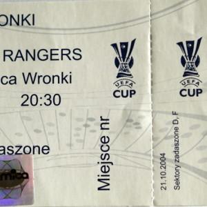 amica wronki v rangers 2004 stub