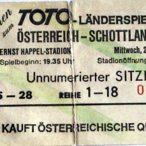 austria v scotland 1994 stub