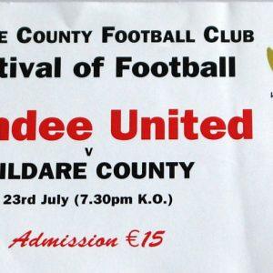 kildare county v dundee united stub