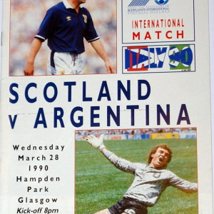 scotland v argentina 1990