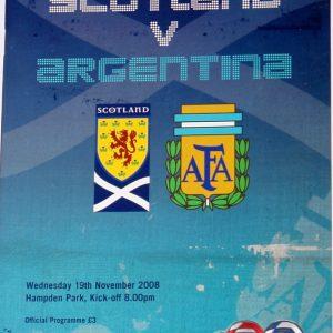 scotland v argentina 2008