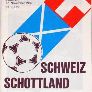 switzerland v scotland 1982