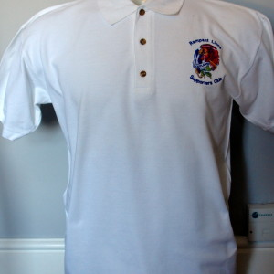white rampantlions saltire and lion polo