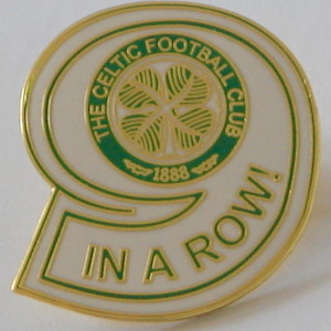 celtic 9 in the row badge