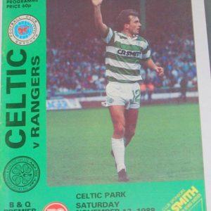 celtic v rangers 1988 programme