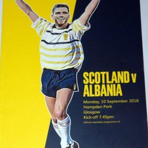 scotland v albania 2018 programme
