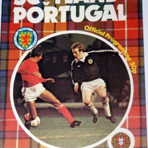 scotland v portugal 1980 programme